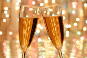 A champagne glass green screen photo booth background