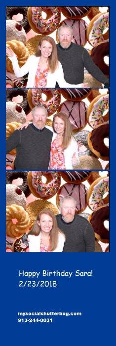 Strips of photo booth pictures